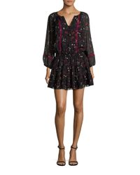 Joie | Black Grover Floral Dress | Lyst