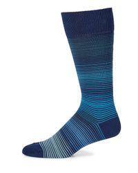 Paul Smith   Blue Ombre Stripe Knitted Socks for Men   Lyst