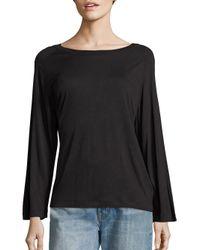 VINCE | Black Heathered Long Sleeve Tee | Lyst