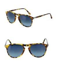 Persol | Blue 55mm Pilot Sunglasses for Men | Lyst