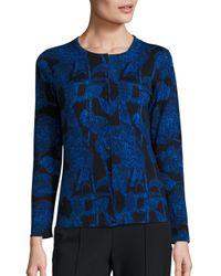 ESCADA | Blue Snobis Printed Cardigan | Lyst