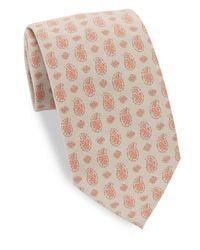 Eidos | Brown Vintage Paisley-print Tie for Men | Lyst