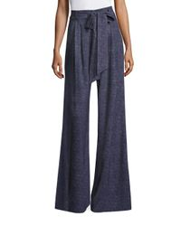 MILLY | Blue Natalie Wide Leg Pants | Lyst