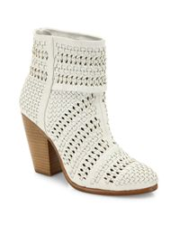 Rag & Bone | White Classic Newbury Woven Leather Booties | Lyst