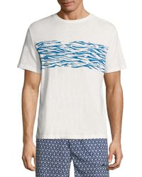 Surfside Supply | White Wave-printed Tee for Men | Lyst