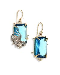 Alexis Bittar | Elements Blue Spinel & Crystal Spider Drop Earrings | Lyst