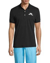 J.Lindeberg | Black Big Bridge Reg Tx Jersey Polo for Men | Lyst