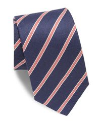 Eton of Sweden | Blue Diagonal Striped Tie for Men | Lyst
