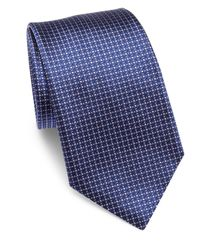 Armani | Blue Connected Micro Dot Embroidered Silk Tie for Men | Lyst