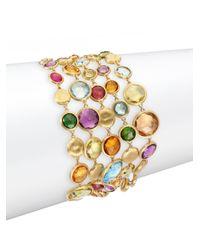Marco Bicego | Metallic Jaipur Semi-precious Multi-stone & 18k Yellow Gold Five-strand Bracelet | Lyst