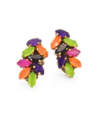 Erickson Beamon | Multicolor Technicolor Crystal Stud Earrings | Lyst