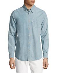 Wesc   Blue Oke Soft Lightweight Denim Button-down Shirt for Men   Lyst