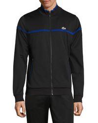 Lacoste | Black Full Zip Track Jacket for Men | Lyst