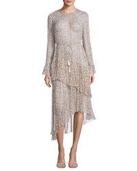Zimmermann | Multicolor Cavalier Ditsy Floral Tier Silk Dress | Lyst