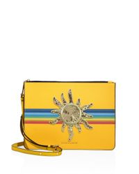 Marc Jacobs | Yellow Flat Leather Crossbody Bag | Lyst