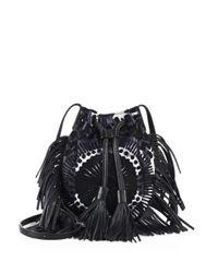 Rebecca Minkoff | Black Revel Phone Leather & Canvas Crossbody Bag | Lyst