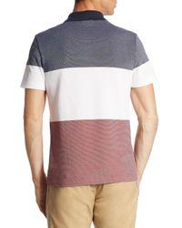Lacoste - Multicolor Striped Textured Cotton Polo for Men - Lyst