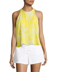 A.L.C. | Yellow Jasper Flyaway Silk Top | Lyst