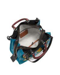 COACH - Blue Space Patch Satchel - Lyst