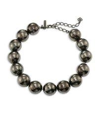 Oscar de la Renta   Metallic Bold Beaded Necklace   Lyst