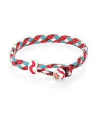 Chamula | Red Woven Leather Bracelet | Lyst