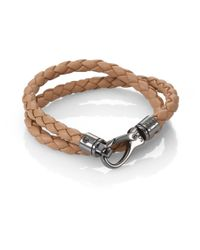 Tod's | Brown Leather Double Wrap Bracelet for Men | Lyst