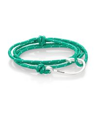 Miansai | Green Hook Rope Wrap Bracelet/silvertone for Men | Lyst