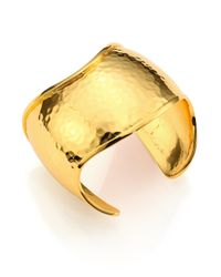 Nest | Metallic Hammered Cuff Bracelet | Lyst