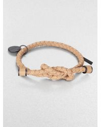 Bottega Veneta | Natural Intrecciato Knotted Leather Bracelet | Lyst