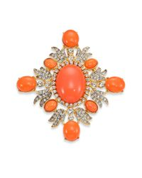 Kenneth Jay Lane | Pink Cabochon Pin | Lyst