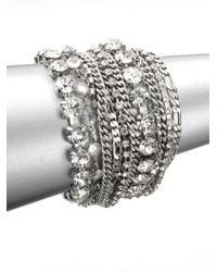 ABS By Allen Schwartz - Metallic Multi-row Link Chain Bracelet - Lyst