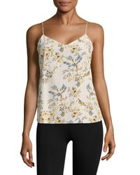 Stella McCartney - Natural Ellie Leaping Stretch Silk Camisole - Lyst