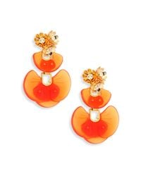 Lele Sadoughi - Orange Island Shell Drop Earrings - Lyst