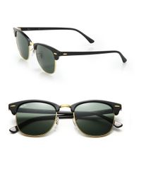 Ray-Ban | Black Iconic Clubmaster Sunglasses | Lyst