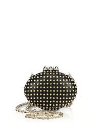 Christian Louboutin | Black Mina Embellished Clutch | Lyst