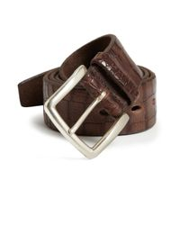 Orciani - Brown Embossed Leather Belt - Lyst