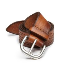Orciani | Brown Textured Leather Belt for Men | Lyst