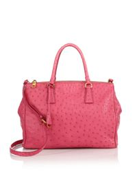 Prada | Pink Saffiano Medium Double Zip Top-handle Bag | Lyst
