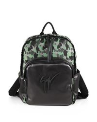 Giuseppe Zanotti | Green Camo-print Leather Backpack for Men | Lyst