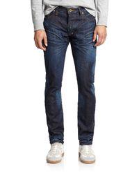 PRPS | Blue Dark-wash Selvedge Straight-leg Jeans for Men | Lyst