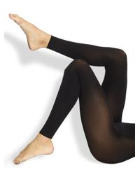 Wolford | Black Velvet Leggings | Lyst