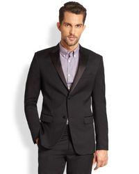 Theory | Black Wellar Hamburg Tuxedo Jacket for Men | Lyst