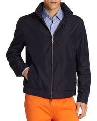 Saks Fifth Avenue | Blue Solid Golf Jacket for Men | Lyst