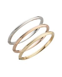 Roberto Coin - Metallic Classica 18k Yellow Gold Knife-edge Bangle Bracelet - Lyst