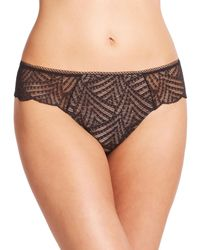 Chantelle - Black Illusion Lace Tanga - Lyst