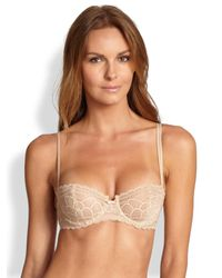 Chantelle | Natural Merci Lace Demi Underwire Bra | Lyst