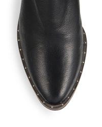 Frēda Salvador - Black Moon Mid-heel Leather Ankle Boots - Lyst