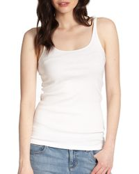 Eileen Fisher   White System Organic Cotton Tank Top   Lyst