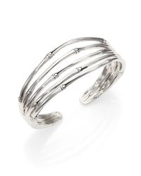 John Hardy | Metallic Bamboo Sterling Silver Four-band Cuff Bracelet | Lyst