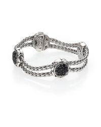 John Hardy | Metallic Kali Black Sapphire & Sterling Silver Four-station Bracelet | Lyst